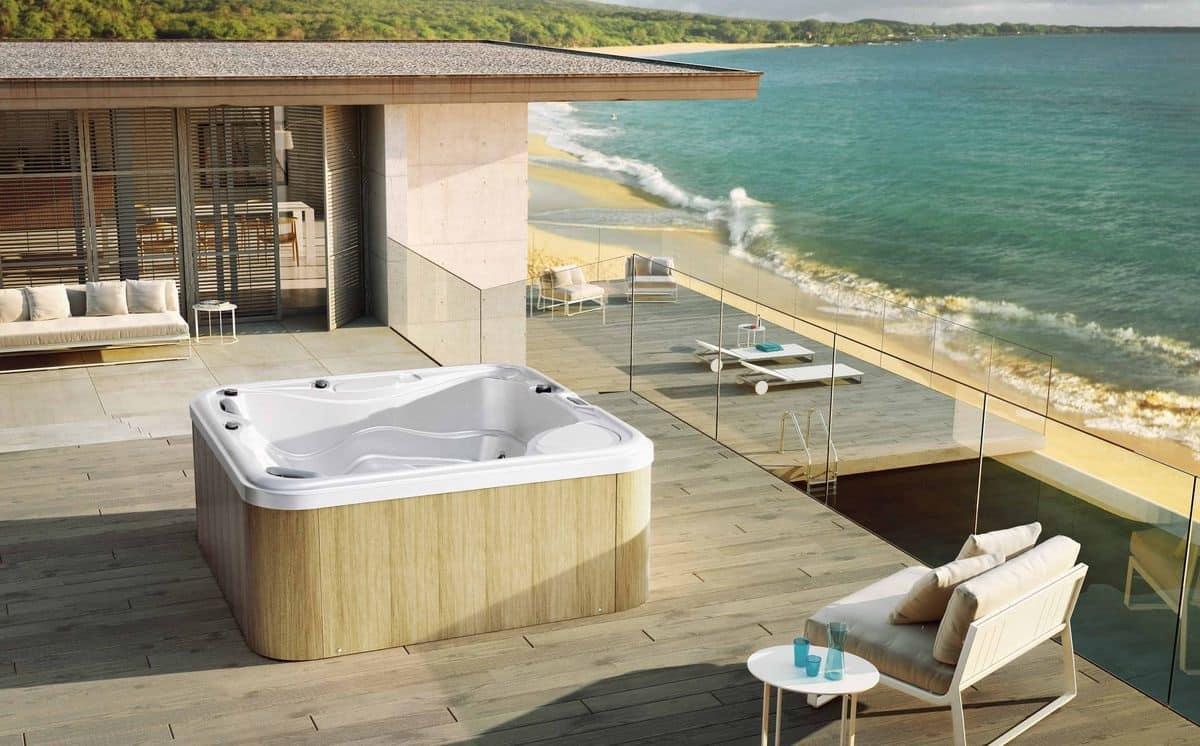 Minipiscina da giardino minipiscina con idromassaggio da for Immagini piscine design