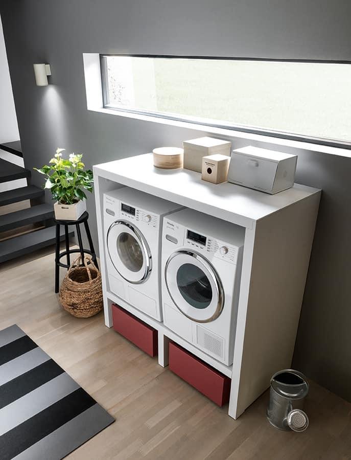 Mobili per lavanderia, con elementi contenitori | IDFdesign