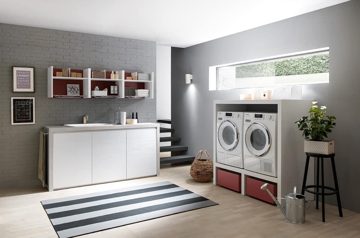Mobili per lavanderia con elementi contenitori idfdesign - Mobili per lavanderia casa ...