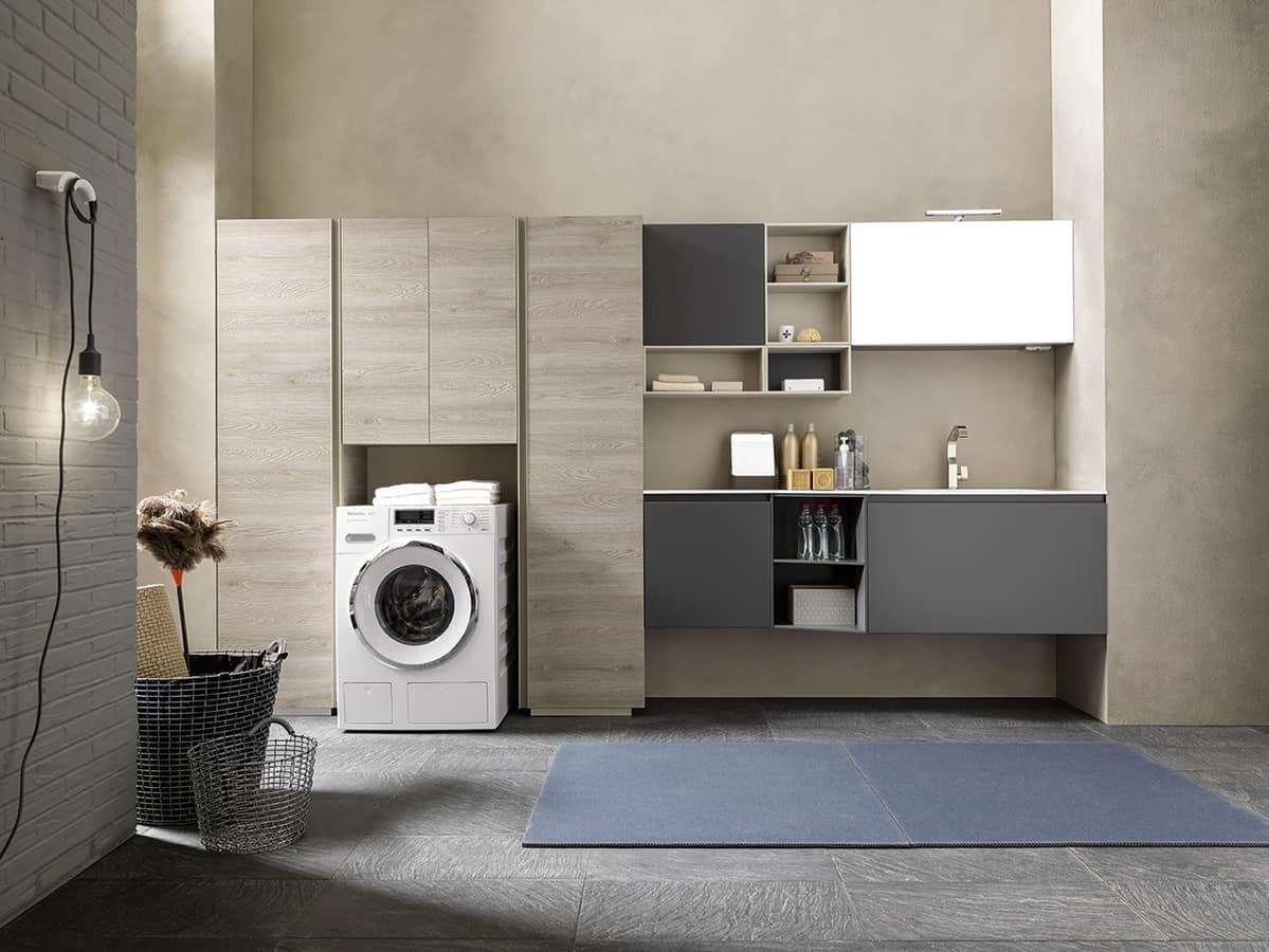 Mobili componibili per arredare la lavanderia idfdesign for Mobili lavanderia