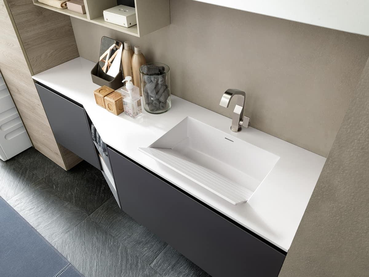 Mobili componibili per arredare la lavanderia idfdesign for Arredare la lavanderia