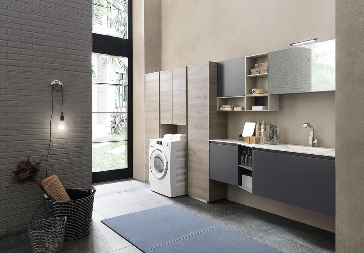 Mobili componibili per arredare la lavanderia idfdesign - Mobili componibili per bagno ...
