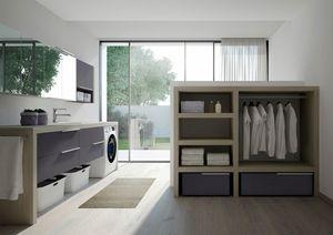 Spazio Time comp.05, Arredo modulare per lavanderia, personalizzabile