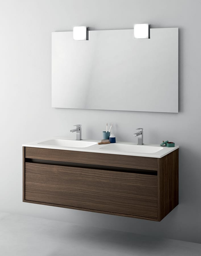Mobile bagno salvaspazio con doppio lavabo idfdesign - Mobile bagno con doppio lavabo ...