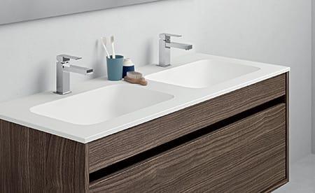 Lavandini Bagno Salvaspazio : Mobile bagno salvaspazio con doppio lavabo idfdesign