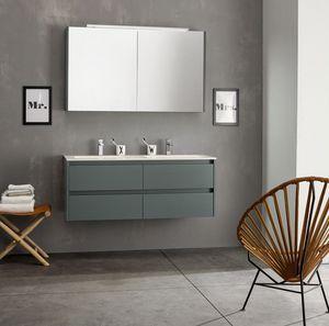 Kami comp.06, Composizione da bagno modulare con doppio lavabo