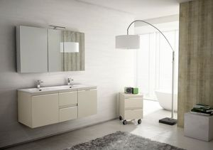Mistral comp.05, Mobile da bagno per coppia, con doppio lavabo