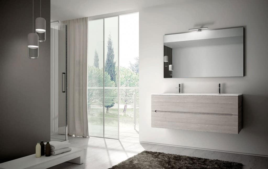 Arredo per bagno con due capienti lavabi idfdesign for Mobili bagno due lavabi