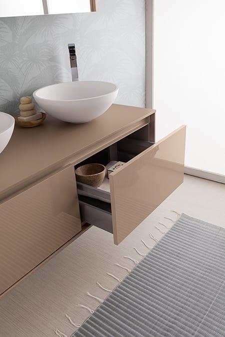 Mobile bagno con doppio lavabo da appoggio | IDFdesign
