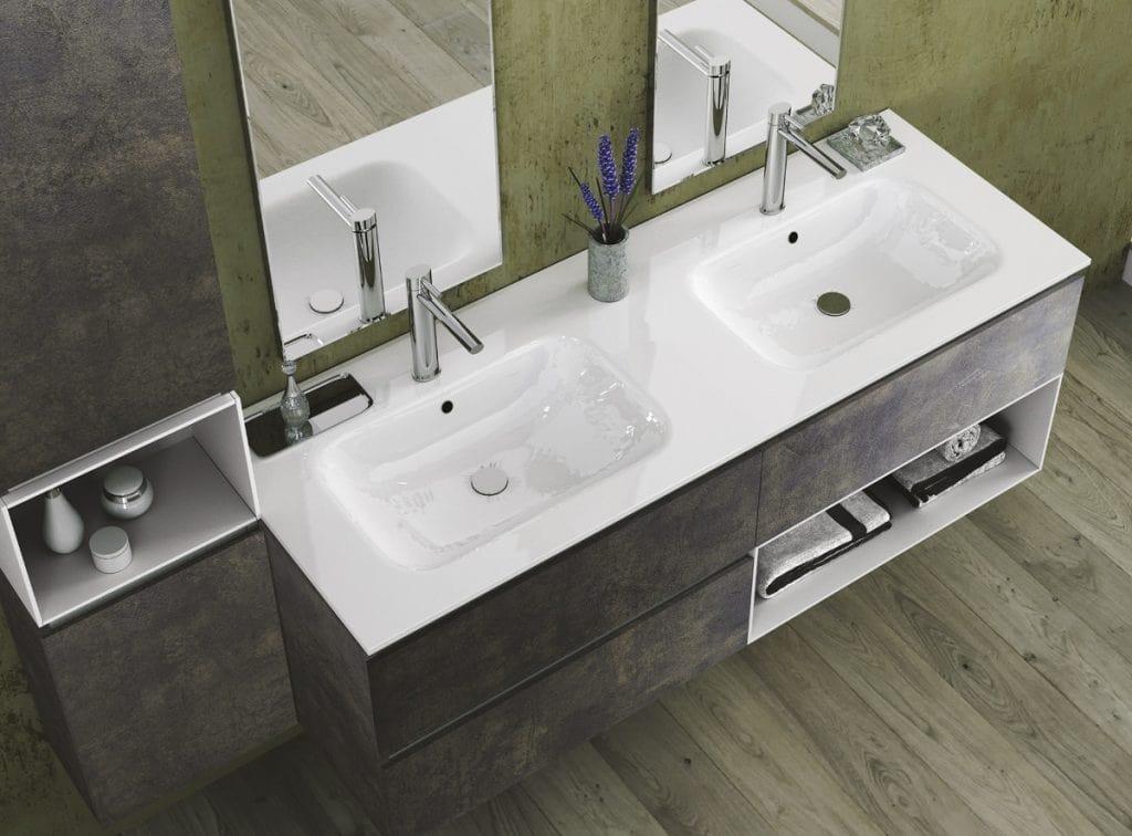 Mobile da bagno con due lavabi idfdesign for Mobili bagno con due lavabi