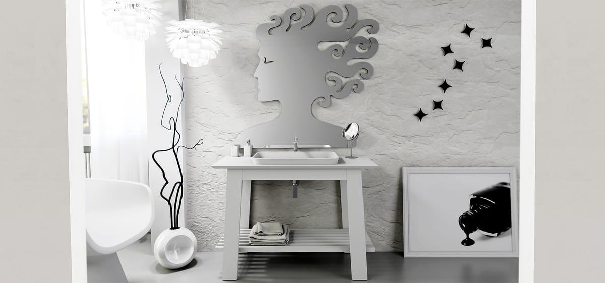 Mobile da bagno bianco laccato | IDFdesign