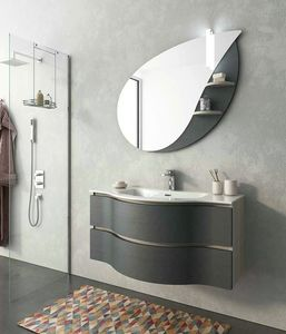 BROADWAY B14, Mobile lavabo laccato sospeso con cassetti