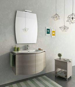 BROADWAY B7, Mobile lavabo sospeso con ante