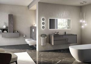 Coc� marmo, Mobile da bagno con lavabo integrato