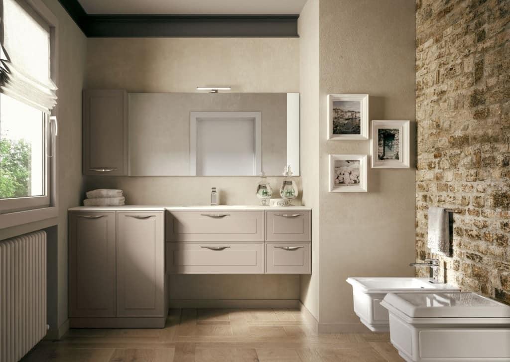mobile bagno con design al confine tra tradizione e On mobile bagno contemporaneo