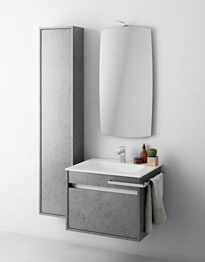 Mobile bagno di piccole dimensioni con colonna idfdesign for Arredo bagno piccole dimensioni