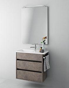 Mobile bagno salvaspazio con doppio lavabo | IDFdesign