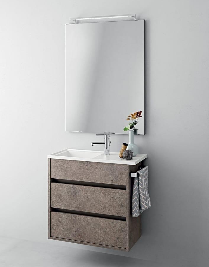 Mobile bagno salvaspazio con cassetti idfdesign - Bagno con sale ...