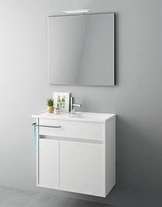 Duetto comp.18, Mobile salvaspazio per bagni di piccole dimensioni