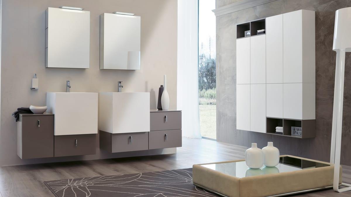 Organizzare I Cassetti Del Bagno : Arredo bagno con specchiere con cassetti push pull idfdesign