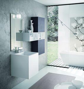 FUNKY FK-07, Composizione per bagno con lavabo in Tecnoril