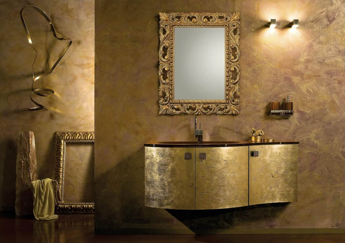 Mobile Da Bagno Glamour : Mobile da bagno finitura oro idfdesign