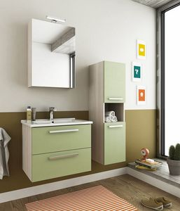 HARLEM H2, Mobile lavabo sospeso con cassetti