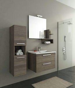HARLEM H8, Mobile lavabo sospeso con cassetti