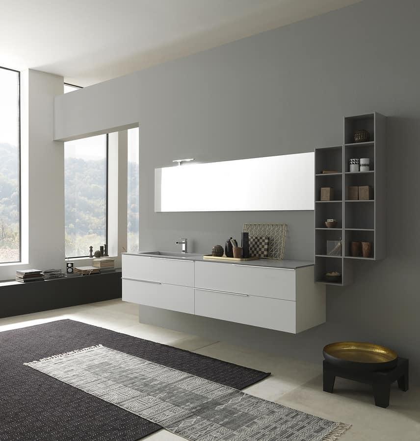 Mobile con lavabo per bagno piano in deimos idfdesign - Lavandini per bagno con mobile ...