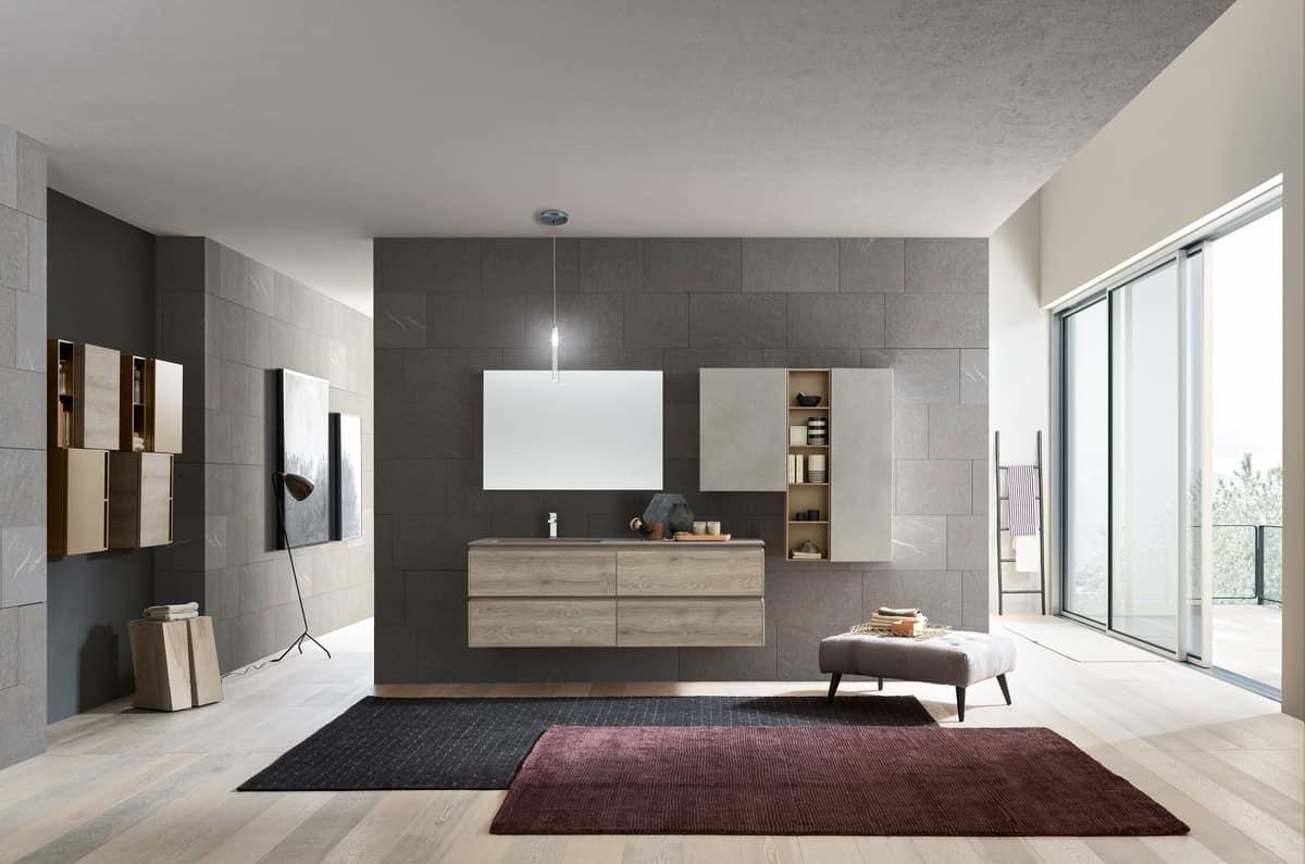 Mobile per bagno con lavabo in Deimos | IDFdesign