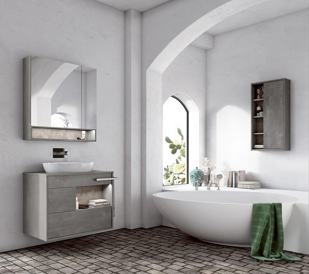 Mobile bagno con lavabo ovale idfdesign - Bagno con sale ...