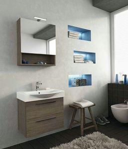 MANHATTAN M2, Mobile lavabo sospeso con cassetti