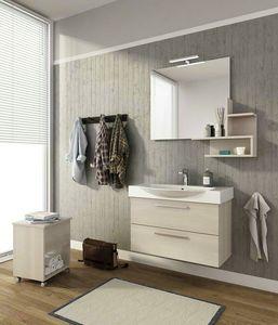 MANHATTAN M8, Mobile lavabo sospeso con cassetti