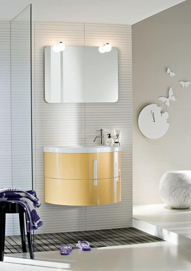 Mobile sospeso da bagno, per spazi contenuti | IDFdesign
