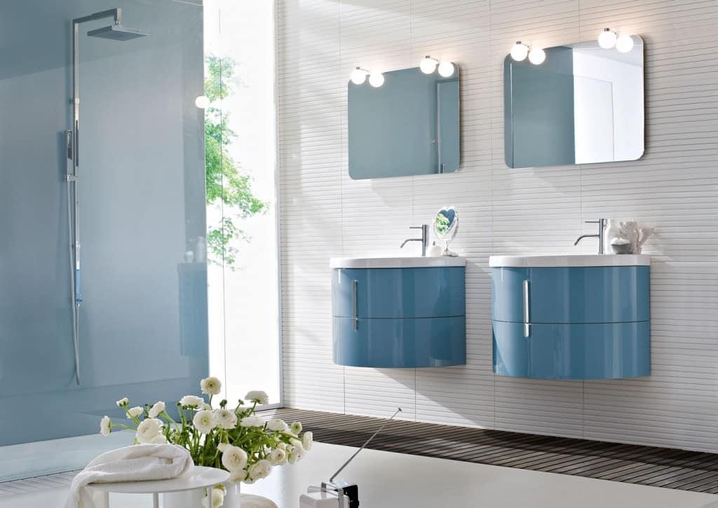 Mobili per bagno con lavabo in ceramica idfdesign - Mobili per lavabo bagno ...
