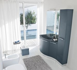 My Fly Evo comp.18, Mobile da bagno dal design sinuoso