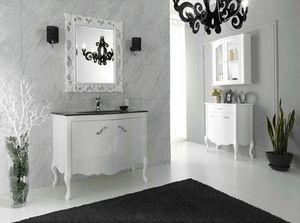 NARCISO 01, Mobile lavabo laccato con ante