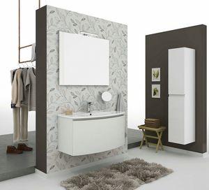ROUND 01, Mobile lavabo sospeso con cassetti