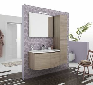 ROUND 04, Mobile lavabo sospeso con ante