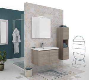 SOFT 01, Mobile lavabo sospeso con ante