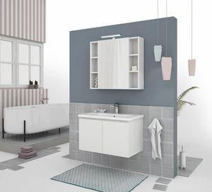 SOFT 02, Mobile lavabo sospeso con ante