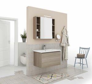 SOFT 04, Mobile lavabo sospeso con cassetti
