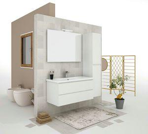 SOFT 05, Mobile lavabo sospeso con cassetti
