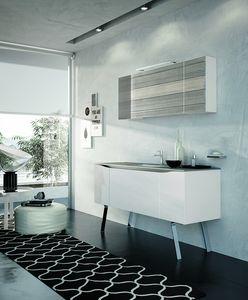SWING SW-06, Mobile bagno moderno con specchiera