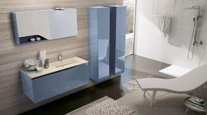 SWING SW-08, Arredo completo per bagno blu lucido