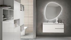 SWING SW-11, Mobile bagno bianco lucido