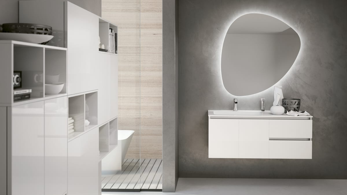 Mobile bagno bianco lucido idfdesign
