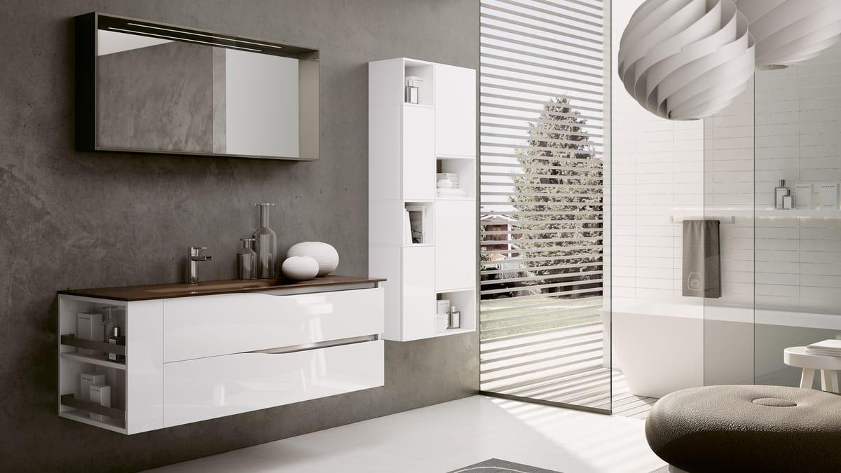 Arredo completo per bagno in stile moderno | IDFdesign