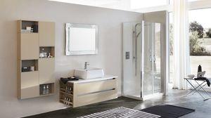 SWING SW-16, Composizione d'arredamento per bagno in legno