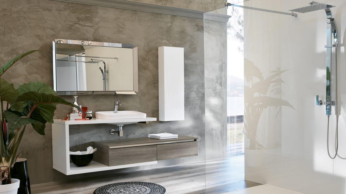 Composizione d\'arredo moderno per bagno   IDFdesign